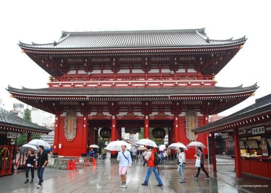 After lunch, we headed to Asakusa. This is the outer gate of Senso-ji, a Buddhist temple.