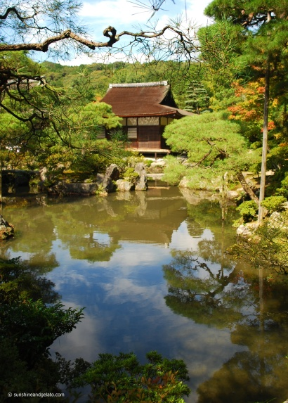 The Japanese garden of Gingaku-ji is world renown.