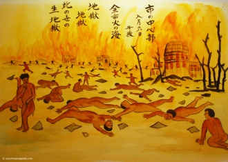 A haunting visit to the Hiroshima Peace Memorial Museum, which documents the horrific atomic bombing of the city during World War II and the aftermath. There are lots of artifacts on display but for me personally, this painting summed up the destruction and devastation very well. Overall, it was a deeply moving experience to visit this place, and I would highly recommend it.