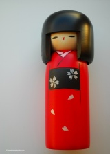 Kokeshi dolls are traditional dolls made from wood which lack arms and legs.