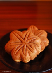 A sweet treat to enjoy on the shinkansen back to Kyoto. Miyajima momiji manju (maple leaf-shaped waffle cakes) are a Miyajima speciality and available from the little shops just outside the Itsukushima Shrine.
