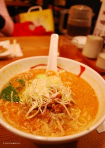 After arriving at Kyoto Station, we decided to check out Ramen Street. Kyoto Station is packed with eateries (floors and floors of), as well as a hotel and a cinema. Ramen street is filled with ramen noodle shops. At most places, you place your order and pay at a vending machine. You get a token which you hand in when your food is ready. This spicy pork ramen was divine - I haven't found anything that comes even close back home. Definitely heading back here on my next trip!