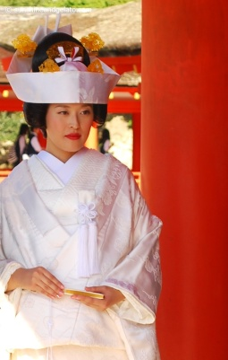 We were lucky enough to observe a traditional Shinto wedding ceremony.