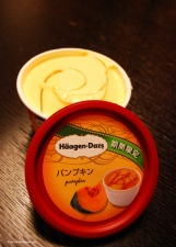 One of the perks of hotel confinement was discovering the wonderful range of Haagen-Dazs flavours in the lobby convenience store. The pumpkin was pretty good, as was the sweet potato flavour.