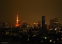 Tokyo Tower lighting up the city's skyline