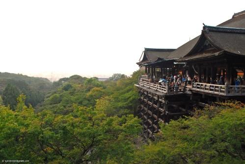 The views of Kyoto from Kiyomizu-dera.